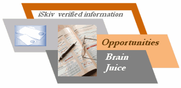 iSkiv Verified Information, Brain Juice and Opportunities