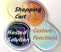 Venn diagram: Shopping Cart, Hosted Solution, Custom Functions